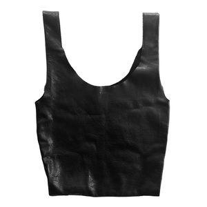 Baggu Simple Black Leather Tote Bag NWOT